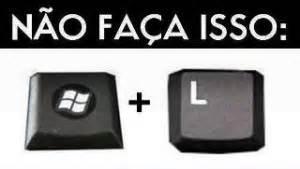 l for windows o que acontece se apertar a tecla windows l