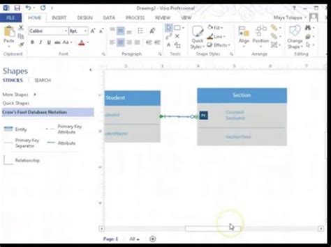 erd with visio how to create er diagrams using visio 2013 entity