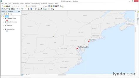 arcgis interface tutorial getting to know the arcmap interface
