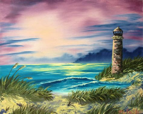 bob ross painting lighthouse bob ross paintings painting bob ross