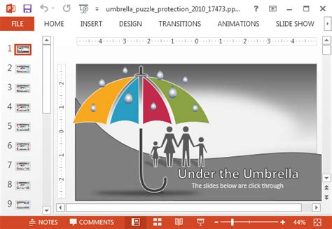 Animated Umbrella Protection Powerpoint Template Disaster Recovery Powerpoint Template