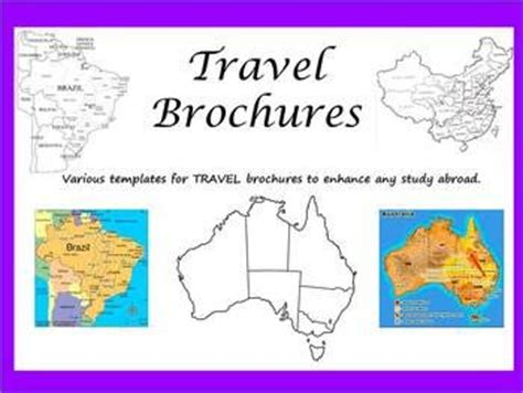 How To Make A Travel Brochure On Paper - travel brochures and country research projects school