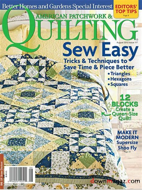 American Patchwork Quilting Magazine - american patchwork quilting issue 117 august 2012