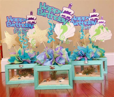 centerpieces for the sea theme the sea themed centerpieces baptism