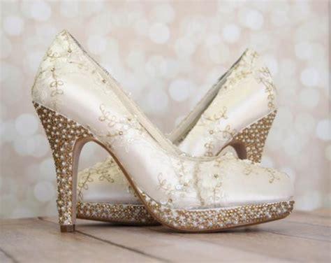 Ivory And Gold Wedding Shoes by Mehmetbilir5688 Weddbook