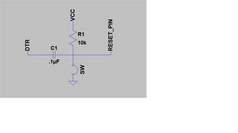 resistor capacitor reset circuit microcontroller what is the cap for in arduino reset circuit electrical engineering stack