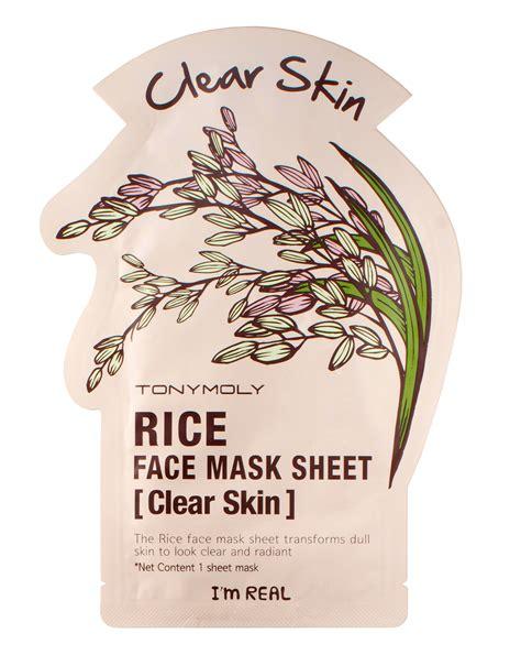 Masker Tony Moly I M Real i m real mask rice by tonymoly