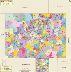 colorado zip code map colorado postal code