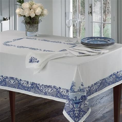 spode table linens blue italian 60 quot x 144 quot tablecloth