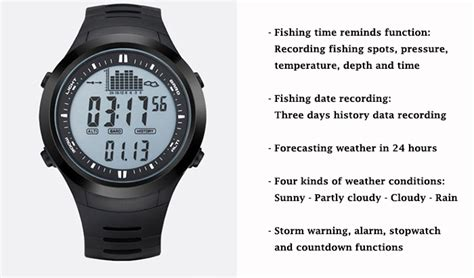 Jam Tangan Digital Spovan Spv709 Fishing Barometer For Outdoor Black 1 spovan spv709 fishing barometer for outdoor traveling black jakartanotebook