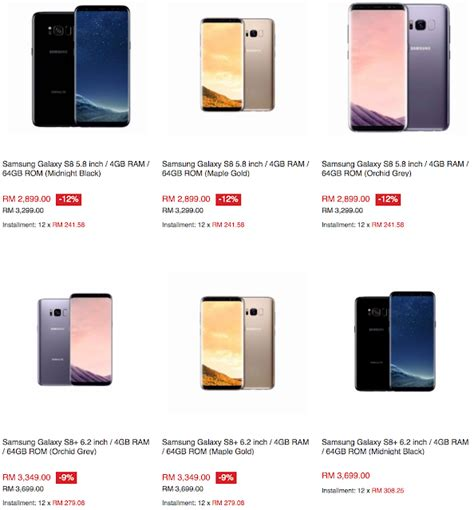 lazada handphone malaysia samsung galaxy s8 malaysia sale price rm2819 15