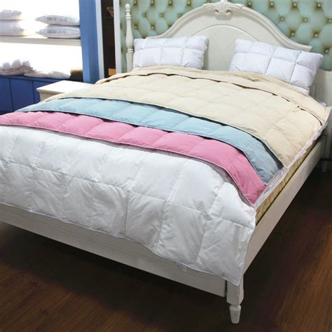 cotton polyester comforter hot sales 90 white duck down summer quilt comforter duvet