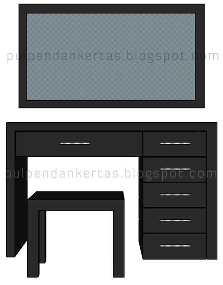 Desain Meja Dengan Sketchup | desain meja rias 3d dengan google sketchup pulpen dan kertas