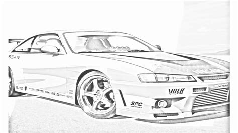 nissan silvia drawing auto draw 2 nissan rally youtube