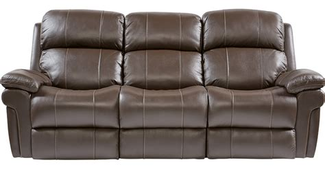 chocolate brown leather reclining sofa 988 00 trevino chocolate brown leather reclining sofa
