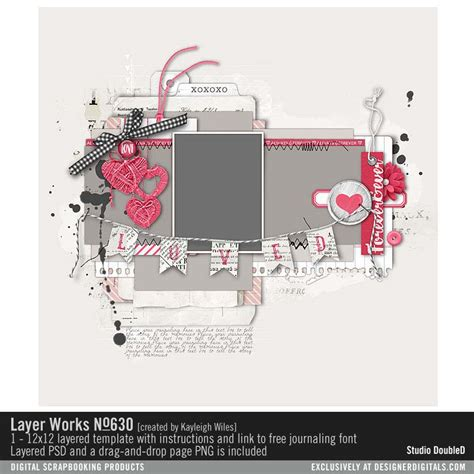 free layer templates for photoshop layer works no 630 scrapbook page template in layered
