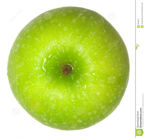 green apple top view royalty free stock photography