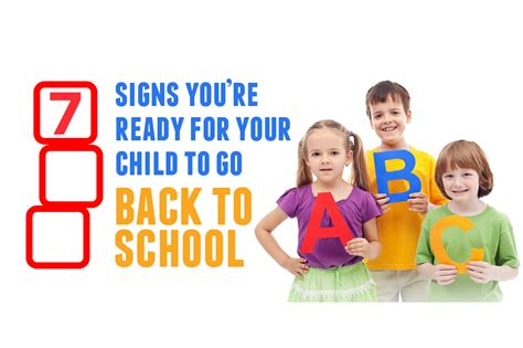 7 Signs That Your Child Is Developing An Disorder by 7 Signs You Re Ready For Your Child To Go Back To School