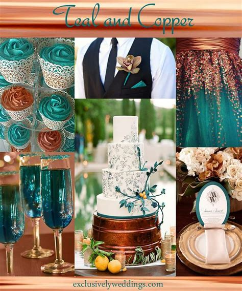 teal wedding colors 17 best teal copper wedding images on