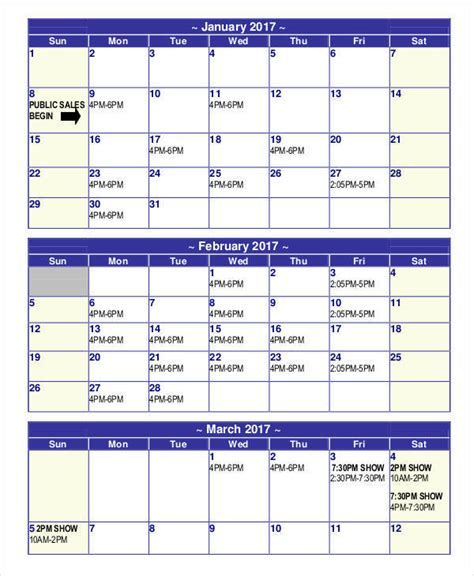 6 Sales Calendar Templates Exles In Word Pdf Sle Templates Sales Calendar Template