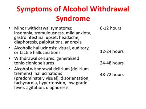 Length Of Detox by Withdrawal Treatment Symptoms And Timeline With