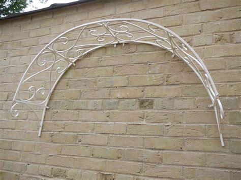 ornate decorative iron metal garden arch door fence