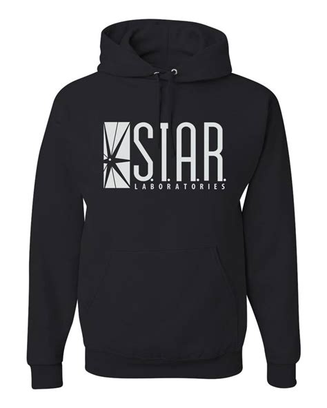Hoodie Zipper Hitam Laboratories Merch laboratories s t a r labs the flash tv show merch