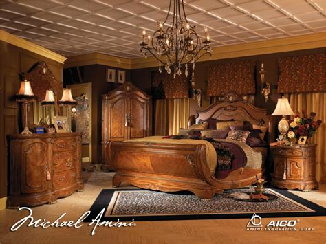 michael amini bedroom sets michael amini cortina luxury bedroom furniture set honey