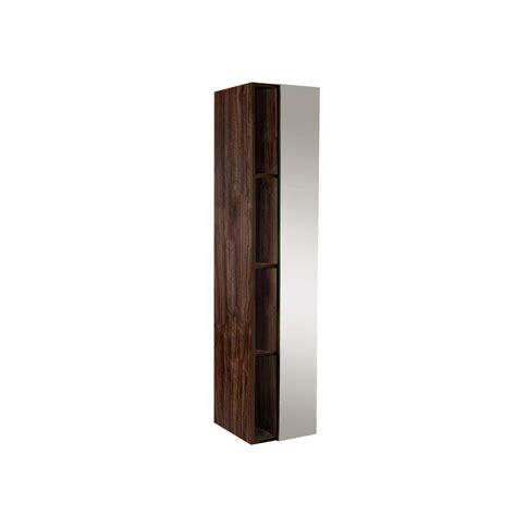 walnut mirror bathroom cabinet fresca 15 3 4 in w x 67 in h x 12 in d bathroom linen storage cabinet with mirror in walnut