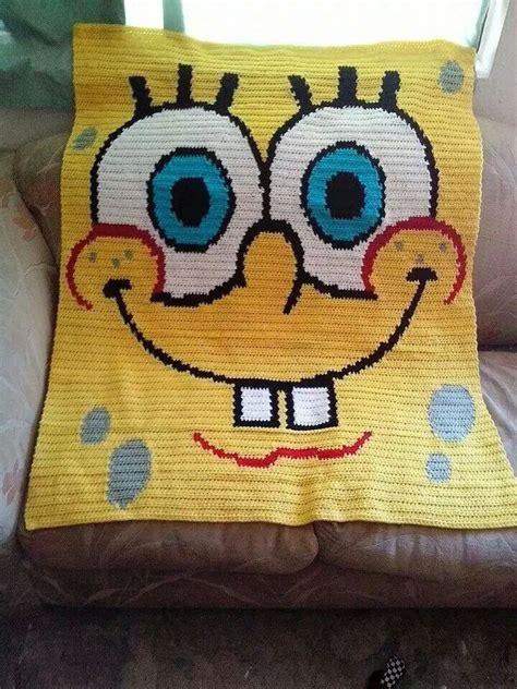 spongebob decke spongebob blanket crochet warmth