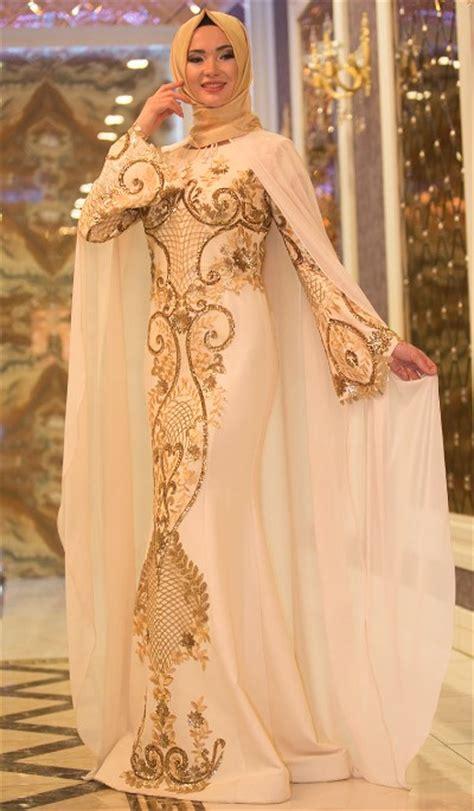 Gamis Pesta Brokat Mewah 50 model baju brokat muslim dari dress gamis hingga