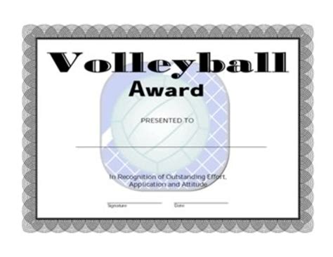 printable volleyball awards free printable volleyball award certificate template car