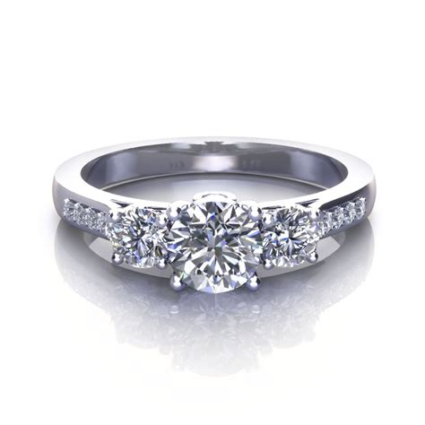 Three Ring by Three Engagement Rings Jewelry Designs