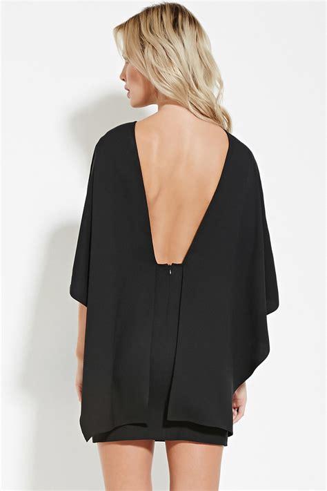 Minidress Cape forever 21 cape sleeve mini dress in black lyst
