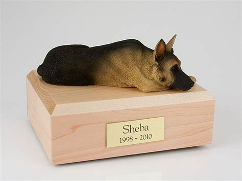 pet urns for dogs german shepherd black figurine urn memorial urns