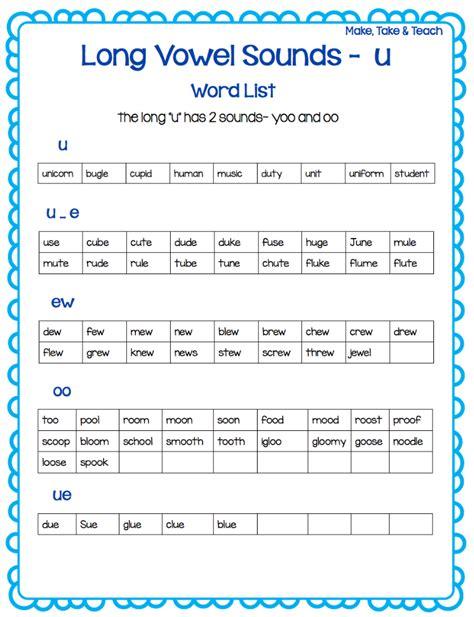 oo pattern words teaching long vowel spelling patterns make take teach