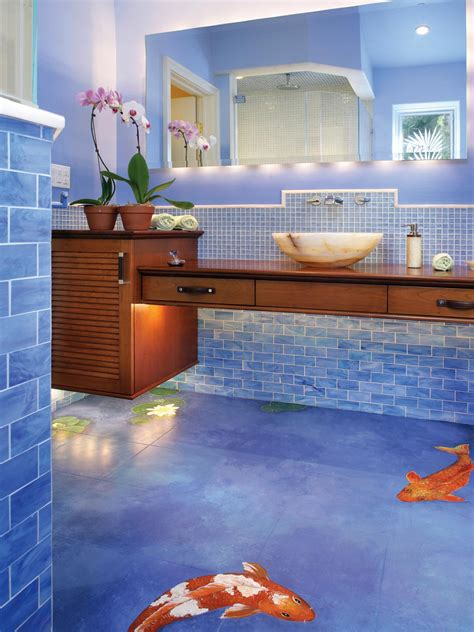 fish bathroom photos hgtv