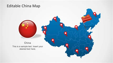 powerpoint map template editable china map template for powerpoint slidemodel