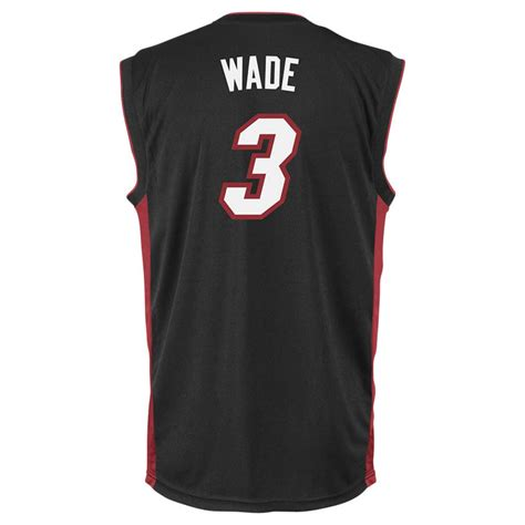 Jersey Miami Heat Hitam Wade adidas s miami heat dwyane wade jersey in black for lyst