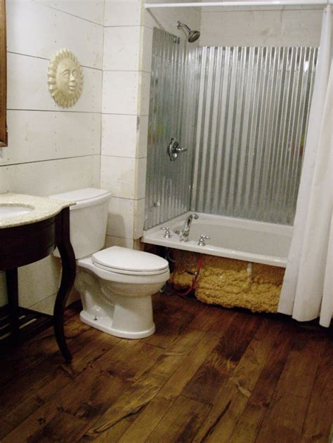corrugated metal bathroom 1000 images about a pine floor on pinterest stains