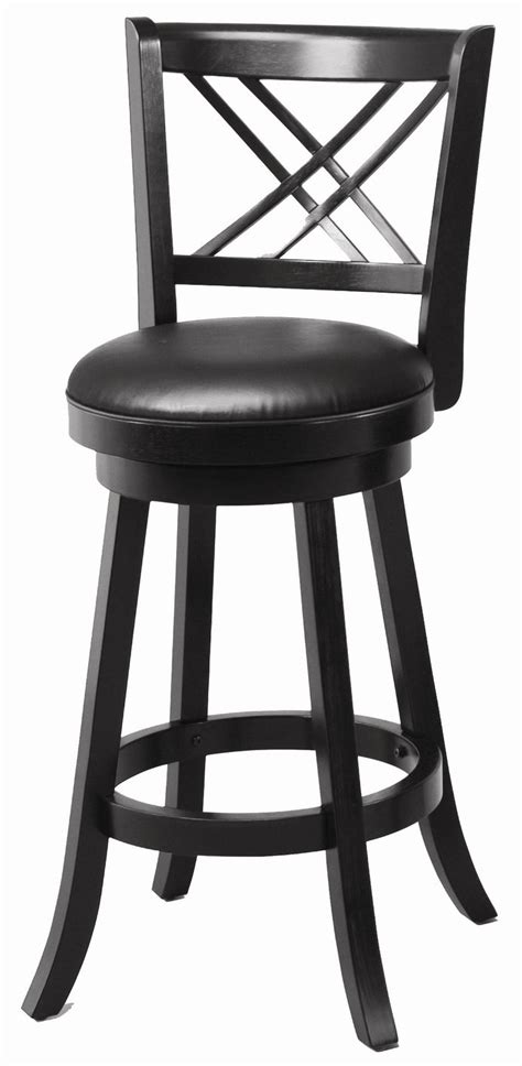 Bar Stools Black Leather by Coaster 101960 Black Leather Bar Stool A Sofa