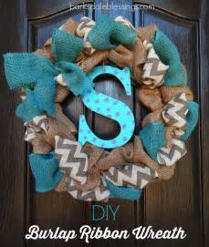 Barksdale blessings diy burlap ribbon wreath