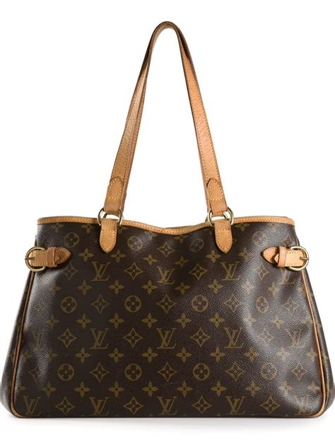 lyst louis vuitton batignolles monogram tote  brown
