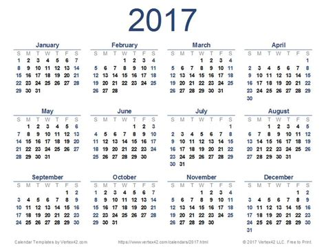 printable calendars vertex42 new printable 2017 calendar pdf from vertex42 com