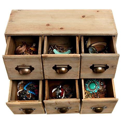 Decorative Desk Organizers Vintage Style Wood 6 Drawer Cabinet Box Decorative Organizer Desk Storage Brown Ebay
