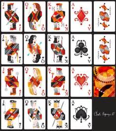 free deck of cards deck of cards template images