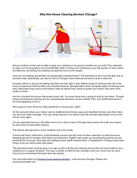 chicago house cleaning why hire house cleaning services chicago