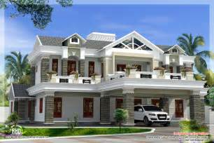 Luxury Home Designs - sloping roof mix luxury home design kerala home design