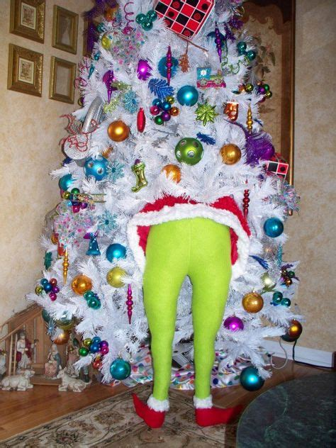 elf legs stuck in christmas tree clever white tree decorating ideas crafty morning
