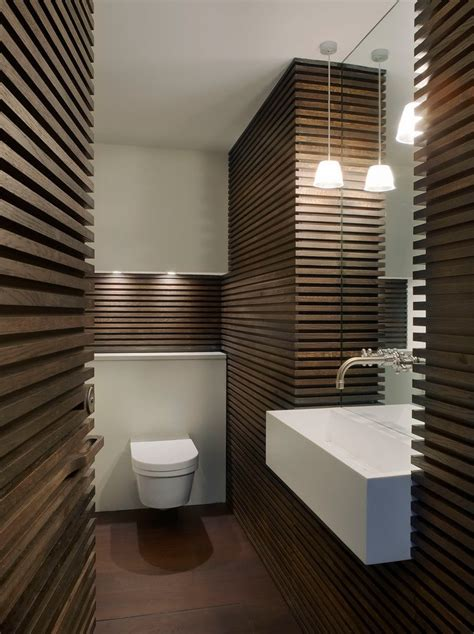 london wall mounted trough sink powder room contemporary